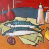 Mackerel. Oil on canvasboard. Sold.