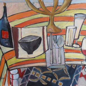 painted still life of table
