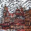 Liverpool. Linoprint, cardboard print