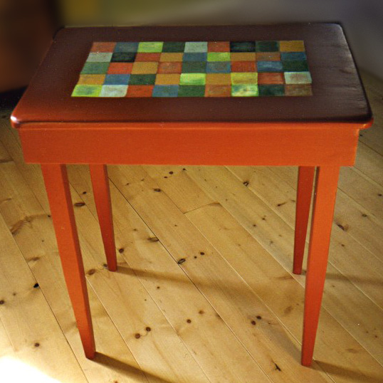 upcycled Checkerboard Table
