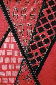 fabric printing African tunic Detail
