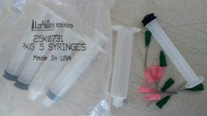 Glue syringes