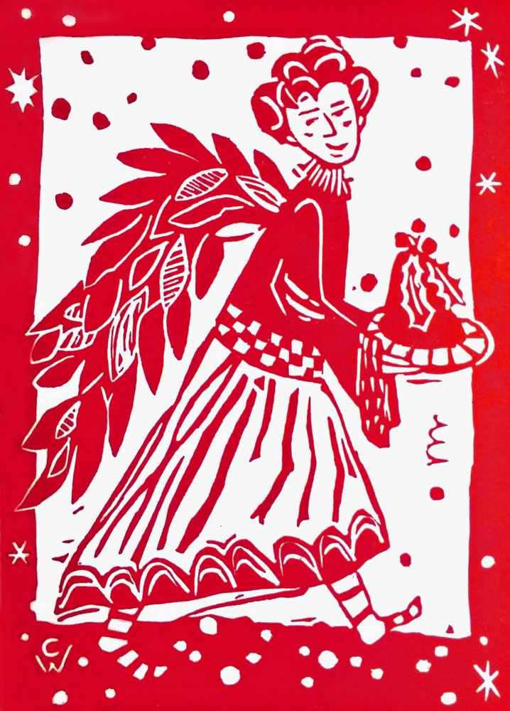 christmas card Christmas Pudding