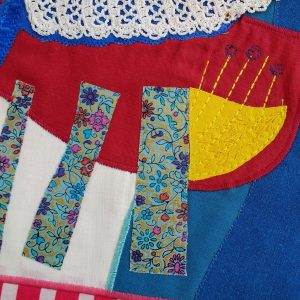 Appliqué made from recycled fabric